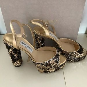 Jimmy Choo sequin shoes